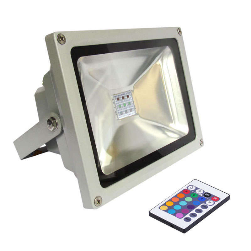 Led outdoor flood light MICROLED, 50W, RGB, RGB